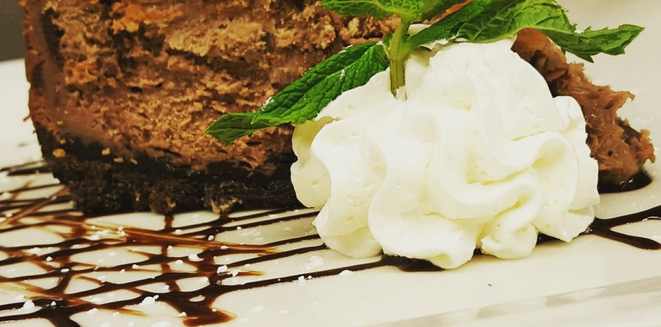 Dessert with whipped cream