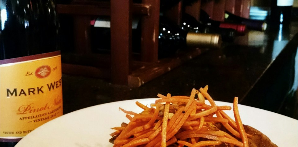 Fries and A Bottle of Wine